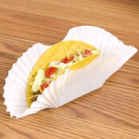 Hoffmaster 610750 White Paper Fluted Burger Cup / Taco ...