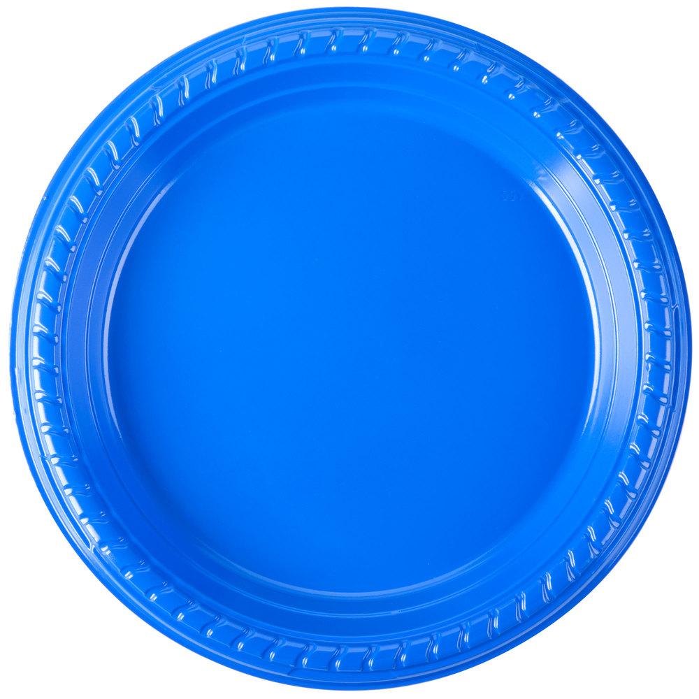 Dart Solo Ps75b 0099 7quot Blue Plastic Plate 500 Case