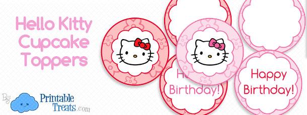Hello Kitty Cupcake Toppers Printable \u2014 Printable Treats