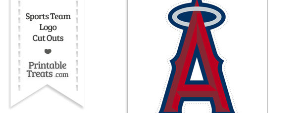 Large Los Angeles Angels Logo Cut Out \u2014 Printable Treats