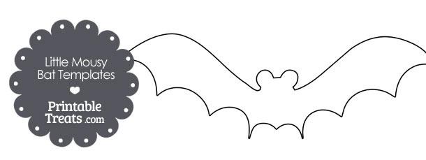 Little Mousy Bat Templates u2014 Printable Treats - bat template