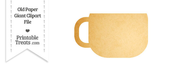 Old Paper Giant Coffee Cup Clipart \u2014 Printable Treats
