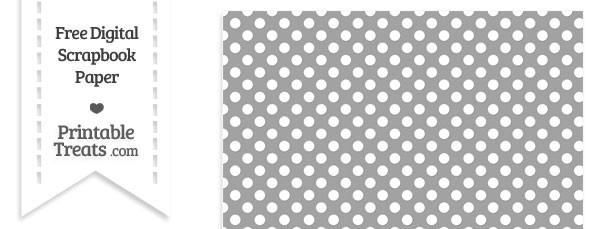 Pastel Grey Polka Dot Digital Paper \u2014 Printable Treats