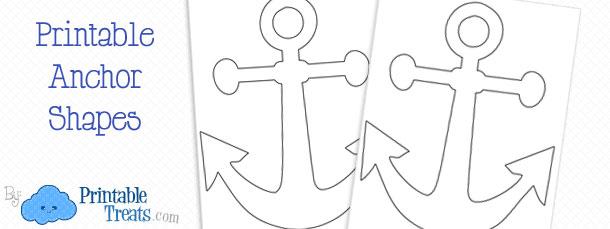 Printable Anchor Template \u2014 Printable Treats