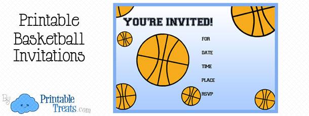 Printable Basketball Birthday Party Invitations \u2014 Printable Treats