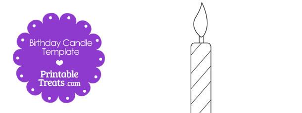 Printable Birthday Candle Shape Template \u2014 Printable Treats