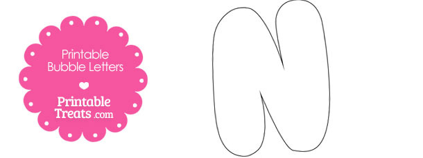 Printable Bubble Letter N Template \u2014 Printable Treats