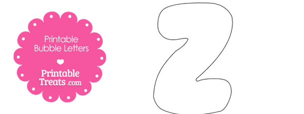 Printable Bubble Letter Z Template \u2014 Printable Treats