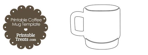Printable Coffee Mug Template \u2014 Printable Treats