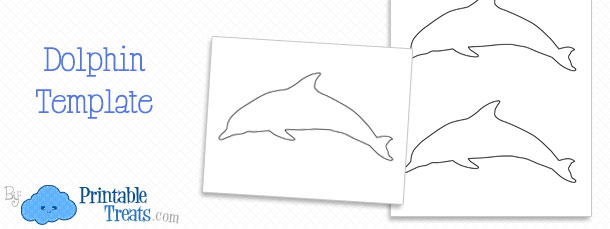 dolphin template printable