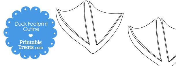 Printable Duck Footprint Template \u2014 Printable Treats