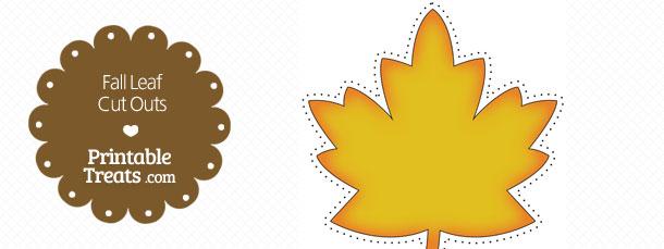 Printable Fall Leaf Cut Outs \u2014 Printable Treats