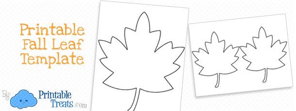 Printable Fall Leaf Template \u2014 Printable Treats