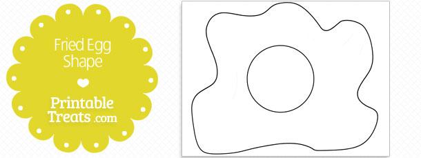 Printable Fried Egg Shape Template \u2014 Printable Treats