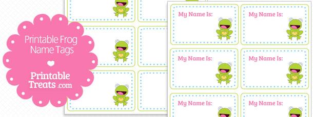 Printable Frog Name Tags \u2014 Printable Treats