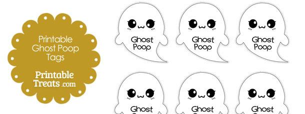 Printable Ghost Poop Tags \u2014 Printable Treats