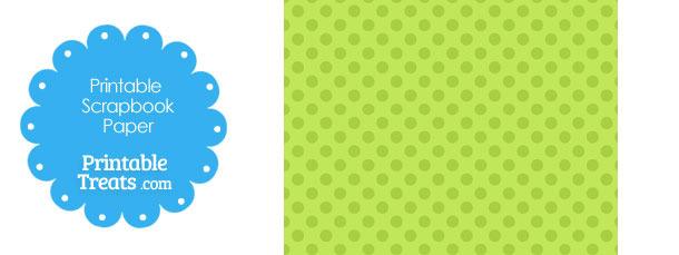 Printable Green Polka Dot Paper \u2014 Printable Treats