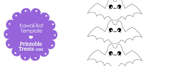 Printable Kawaii Bat Templates \u2014 Printable Treats