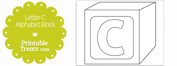 Printable Letter C Alphabet Block Template \u2014 Printable Treats
