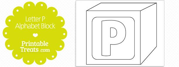 Printable Letter P Alphabet Block Template \u2014 Printable Treats