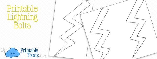 Printable Lightning Bolts \u2014 Printable Treats