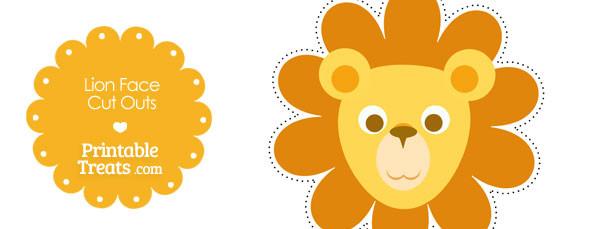 Printable Lion Face Cut Outs \u2014 Printable Treats