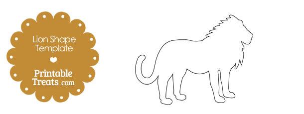 Printable Lion Shape Template \u2014 Printable Treats