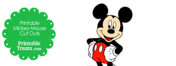 Printable Mickey Mouse Cut Outs \u2014 Printable Treats - free printable mickey mouse