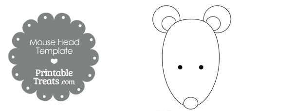 Printable Mouse Head Template \u2014 Printable Treats