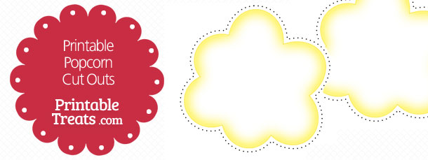 Printable Popcorn Cut Outs \u2014 Printable Treats