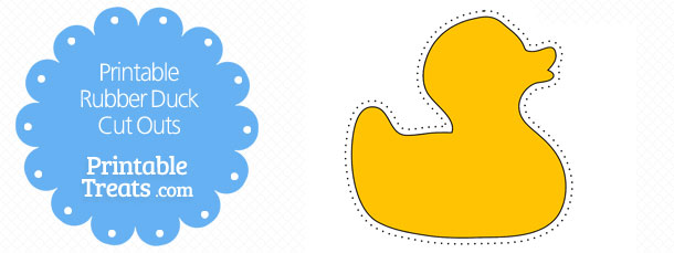 Printable Rubber Duck Cut Outs \u2014 Printable Treats