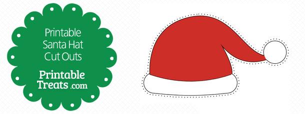 Printable Santa Hat Cut Outs Printable Treatscom