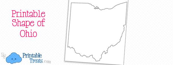 Printable Shape of Ohio \u2014 Printable Treats