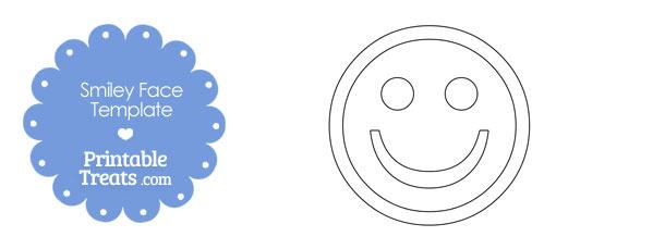 Printable Smiley Face Template \u2014 Printable Treats - face template printable