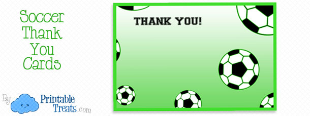 Printable Soccer Thank You Notes \u2014 Printable Treats
