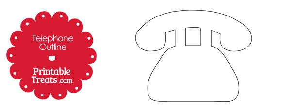 Printable Telephone Shape \u2014 Printable Treats