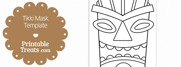 Printable Tiki Mask Template \u2014 Printable Treats