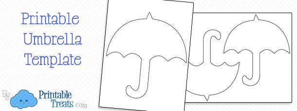 Printable Umbrella Template \u2014 Printable Treats