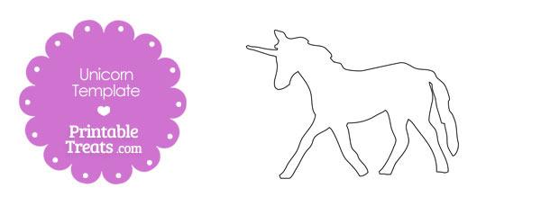 Printable Unicorn Shape Template \u2014 Printable Treats - unicorn template