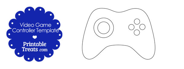 Printable Video Game Controller Template \u2014 Printable Treats - video game template