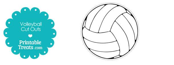 Printable Volleyball Cut Outs Printable Treatscom