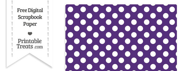 Royal Purple Large Polka Dots Digital Paper \u2014 Printable Treats