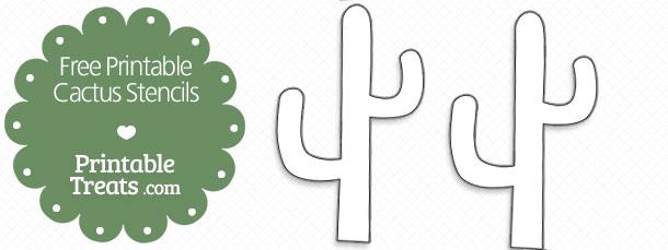 Free Printable Cactus Stencils \u2014 Printable Treats