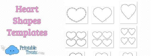 Heart Shapes Template \u2014 Printable Treats