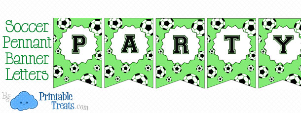 Soccer Party Banner \u2014 Printable Treats