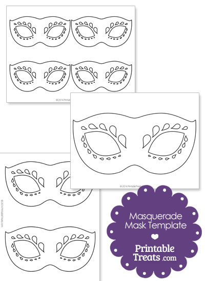 Decorative Masquerade Mask Template \u2014 Printable Treats