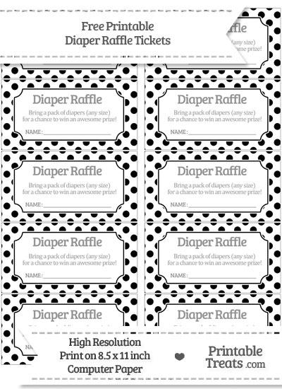 printable raffle tickets template free