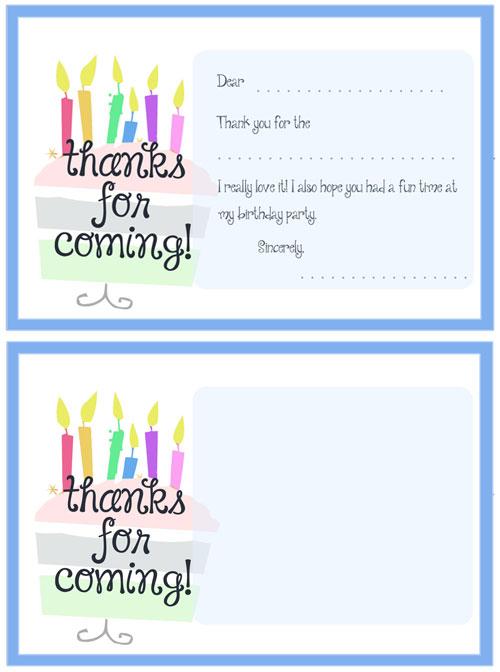 Printable Cake Thank You Cards \u2014 Printable Treats