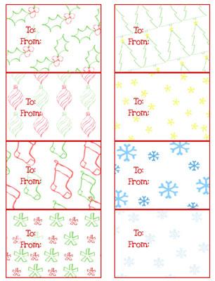 Free Printable Christmas Gift Tags \u2014 Printable Treats