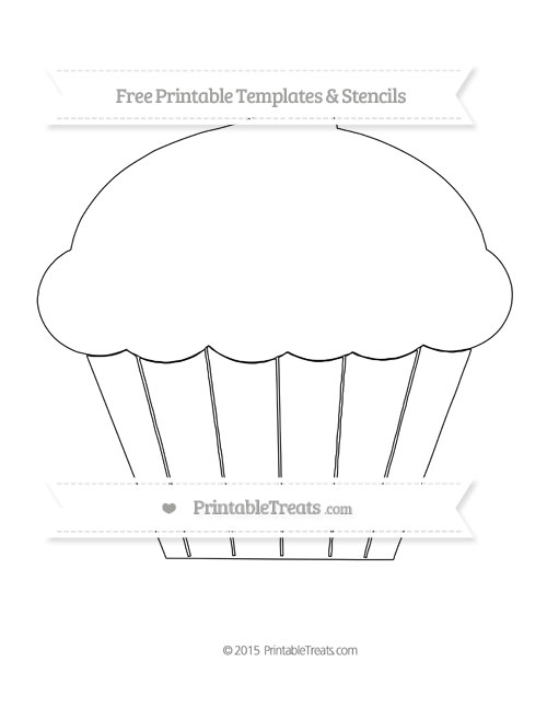 Free Printable Extra Large Cupcake Template Shapes and Templates - phone tree template
